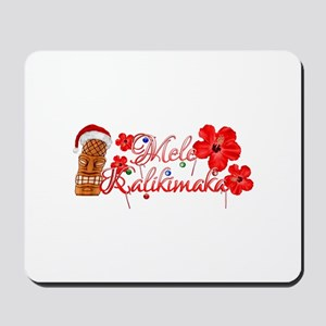 Mele Kalikamaka Tiki Mousepad