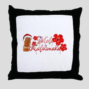 Mele Kalikamaka Tiki Throw Pillow