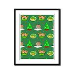Christmas Trees, Cookies Framed Panel Print