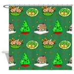 Christmas Trees, Cookies Shower Curtain