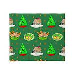 Christmas Trees, Cookies Throw Blanket