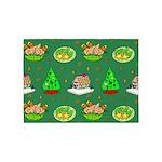 Christmas Trees, Cookies 5'x7'Area Rug