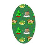 Christmas Trees, Cookies 20x12 Oval Wall Decal