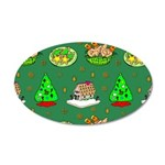 Christmas Trees, Cookies 35x21 Oval Wall Decal
