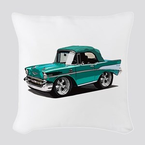 BabyAmericanMuscleCar_57BelR_Green Woven Throw Pil
