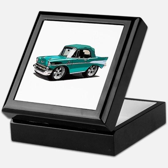 BabyAmericanMuscleCar_57BelR_Green Keepsake Box