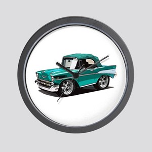 BabyAmericanMuscleCar_57BelR_Green Wall Clock