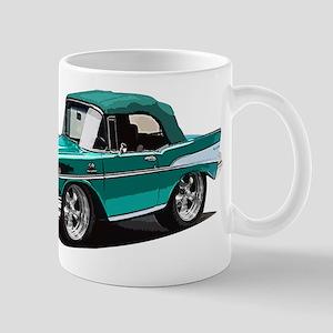 BabyAmericanMuscleCar_57BelR_Green Mugs