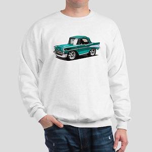 BabyAmericanMuscleCar_57BelR_Green Sweatshirt
