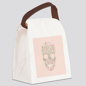 Girly Pink Floral Paisley Sugar S Canvas Lunch Bag