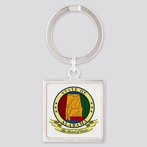 Alabama Seal Square Keychain