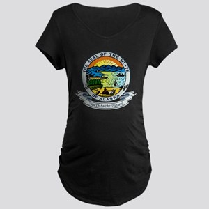Alaska Seal Maternity Dark T-Shirt