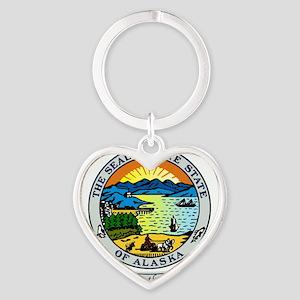 Alaska Seal Heart Keychain