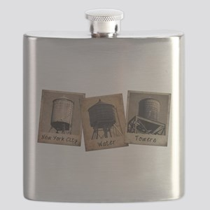 New York City Water Towers Flask
