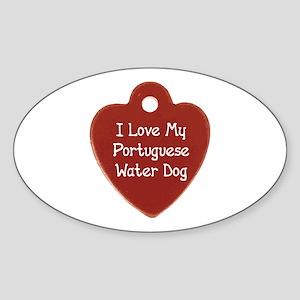 Portie Tag Oval Sticker