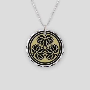 Tokugawa Family Crest Necklace Circle Charm