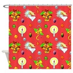 Christmas Angels, Bells Shower Curtain