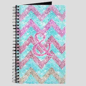 Pink Glitter Ampersand Girly Teal Purple C Journal