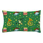 Christmas Horns Bells Pillow Case