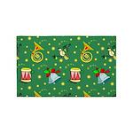 Christmas Horns Bells 3'x5' Area Rug