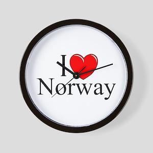 """""""I Love Norway"""" Wall Clock"""