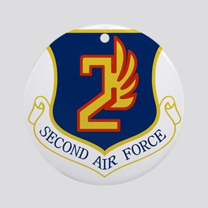 2nd Air Force Round Ornament