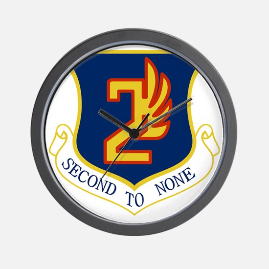 2nd Air Force - Secong To None Wall Clock