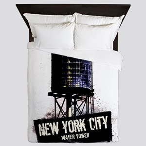New York City Water Tower Queen Duvet