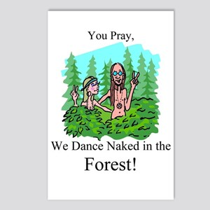 Dance Naked Postcards (Package of 8)