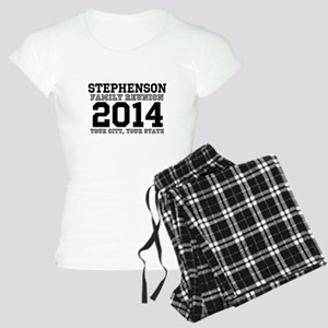 Custom Family Reunion Bold Varsity Text Pajamas