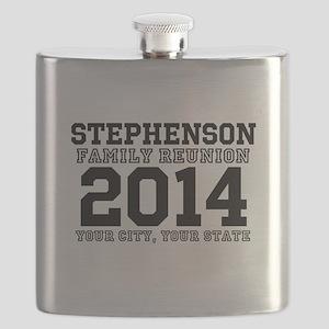 Custom Family Reunion Bold Varsity Text Flask