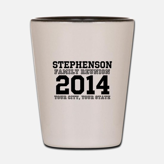 Custom Family Reunion Bold Varsity Text Shot Glass