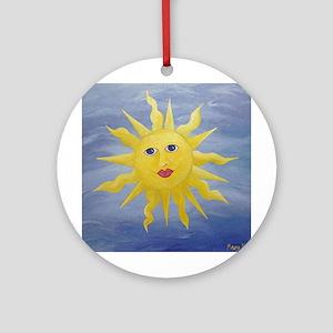 Whimsical Sun Ornament (Round)
