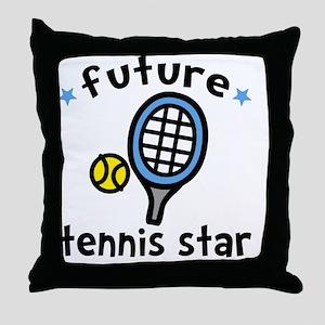 Tennis Star Throw Pillow