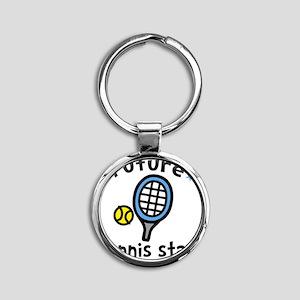 Tennis Star Round Keychain