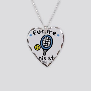 Tennis Dad Necklace Heart Charm