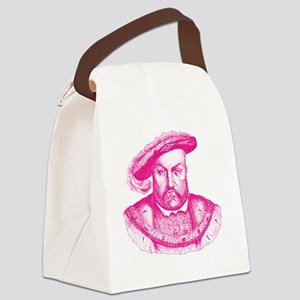 Pink Henry the Eighth VIII Canvas Lunch Bag