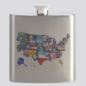 USA State Flags Map Flask