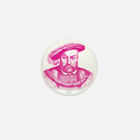 Pink Henry the Eighth VIII Mini Button