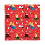 Christmas, Swans, Angels Queen Duvet