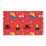 Christmas, Swans, Angels 3'x5' Area Rug