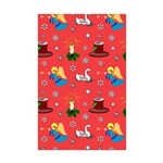 Christmas, Swans, Angels Mini Poster Print