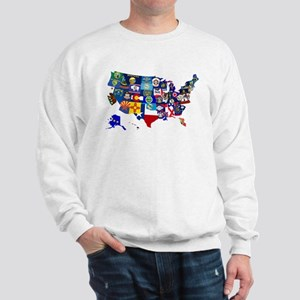 USA State Flags Map Sweatshirt