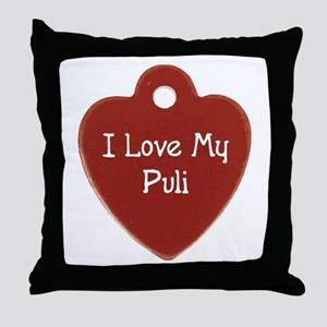 Puli Tag Throw Pillow