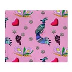 Hearts & Peacocks Throw Blanket
