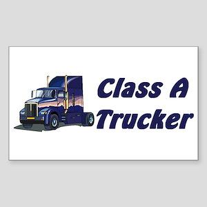 Class A Trucker Rectangle Sticker