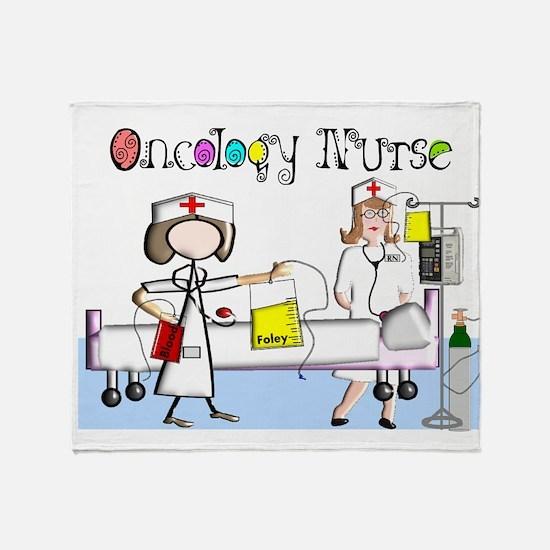 Oncology Nurse Throw Blanket