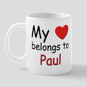 My heart belongs to paul Mug