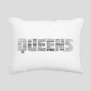Queens New York Typography Rectangular Canvas Pill