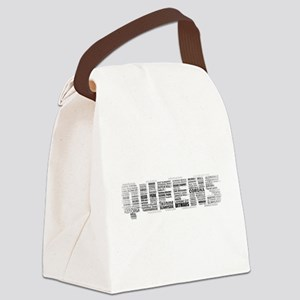 Queens New York Typography Canvas Lunch Bag